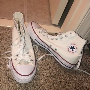 NEVER WORN converse high tops